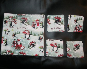 Winter/Christmas Trivet and 4 Coaster Set