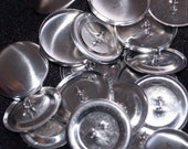 50 38mm size60 metal self cover buttons DIY fabric buttons SHANK/WIRE back - australia