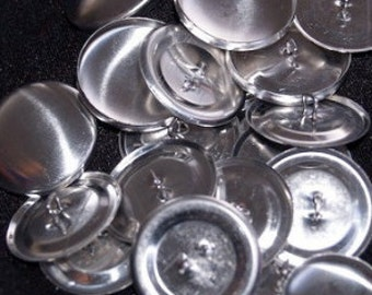 25 15mm size24 metal self cover buttons DIY fabric buttons SHANK/WIRE back - australia