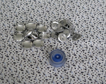 Sample pack of 10 15mm size 24 SHANK/WIRE back self cover button with CLEAR tool - Australia