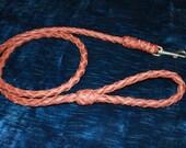 "Handmade leather 55"" pet leash"