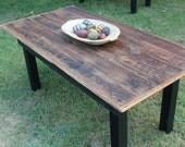 Reclaimed Barnwood  Harvest Table