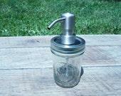 Mason Jar Soap or Lotion Dispenser - 8 ounce size - Bird Head Pump - Free Chalkboard Label