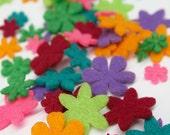 Felt Flower minis - Brights (63 pieces)