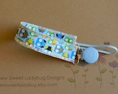 Soothie Fabric Pacifier Clip in Timeless Treasures Tiny Owls READY TO SHIP!!