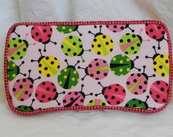 Baby Girl Travel Baby Wipe Case in Ladybug Fabric READY TO SHIP!!