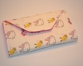 Hello Kitty Crayon Wallet - LARGE - Pink with Hello Kitty and Hearts with Bumble Bee's