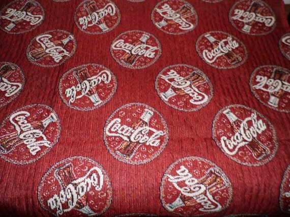 Coca Cola Red Logos Tapestry Fabric By Amypookerdesigns On