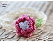 Pink Flower Headband for Baby Girl