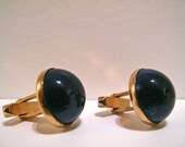 Vintage Cuff Links - Golden and Blue