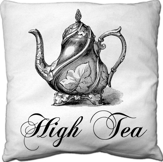 High Tea fabric transfer iron image digital printable Collage Sheet nr 070
