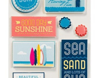 American Crafts Shoreline Sandpiper Remarks Dimensional Stickers -- MSRP 4.00