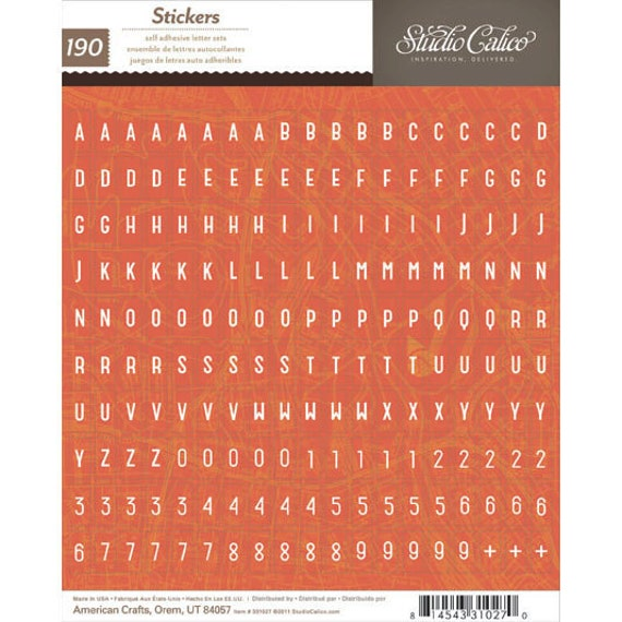 Studio Calico - Abroad Red Alpha Stickers