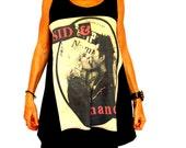 Sid and Nancy Sex Pistols punk rock black long tank or short babydoll dress size M or L