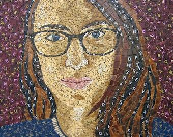 Scrabble Tile Mosaic Portrait