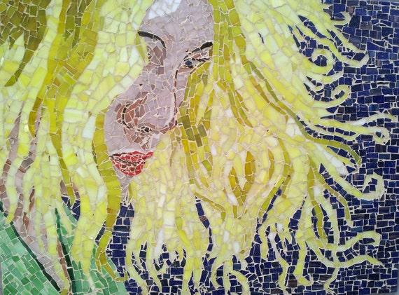 Beautiful Mixed Glass Mosaic Portait