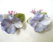 Wedding Hair Clips, Purple Hair Clips, Bridesmaid Flower Clips, Flower Girl Hair Clips, Hydrangea Hair Clips, Mori Girl Lavender Hair Clips