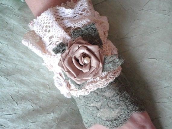 Lace Cuff Bracelet, Boho Shabby Chic