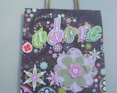 Colorful Adore Gift Bag with Flower