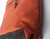 Orange Shoulderbag Tote, Simple and Practical