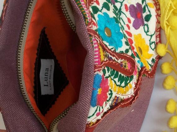 NEW / Cosmetic Bag / OOAK / Ethnic Kitsch