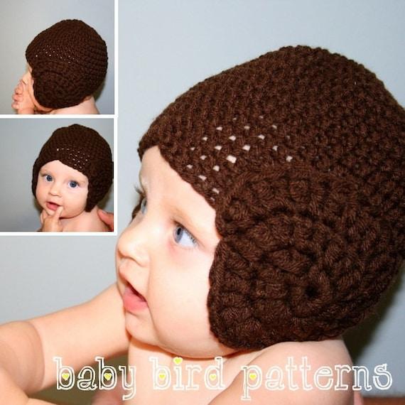 Crochet Pattern Princess Leia Hat : Crochet princess leia hat pattern for babies by ...