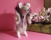 Needle Felted Mouse...'Little Missy' by OOAK Artist Dee P