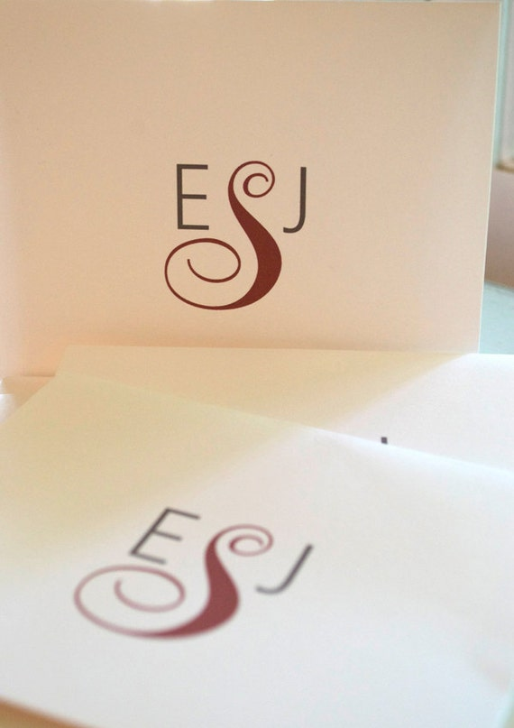 Monogrammed Stationery Note Cards