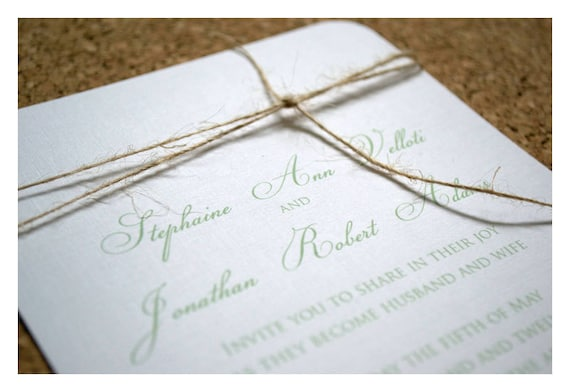 Simple and Elegant Knot Invitations - Knot Invite - Twine Knot - Tie the Knot Invite - Rope Invitation - Nautical - Elegant - Calligraphy