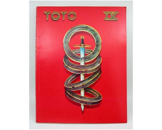 Vintage sheet music, Toto IV, 1980s rock music, song book, Rosanna , Africa, lyrics, chords