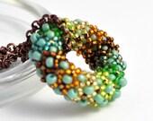 Seed Beads Donut Pendants