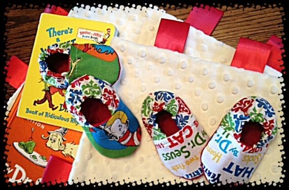 Dr. Seuss Infant Crib Shoes 0-3, 3-6, or 6-9mo