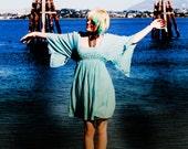 1970's Madame butterfly hippie dress