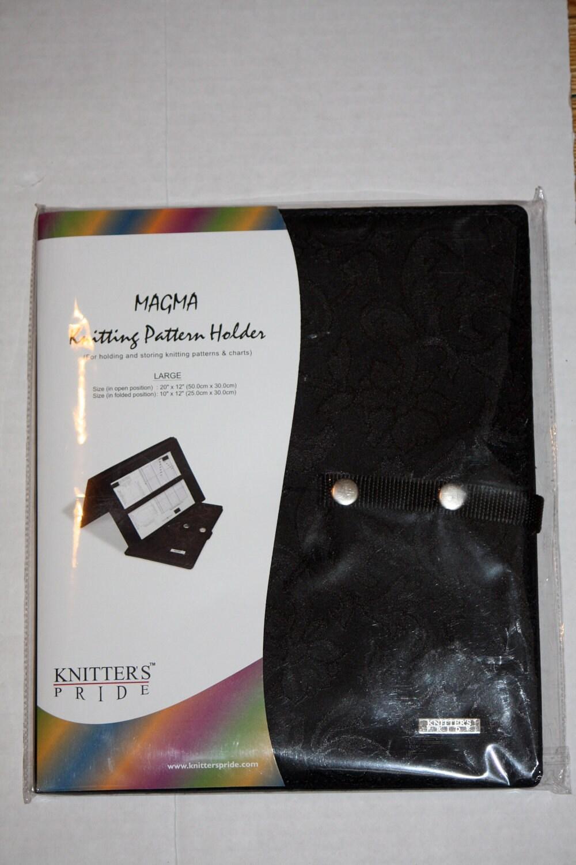 Knitting Chart Holder : MAGMA Knitting Pattern Holder. /Fold-Up Style Chart Keeper/.