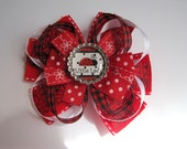 SALE Ladybug Girls Hair Bow Red and Black Boutique Bow