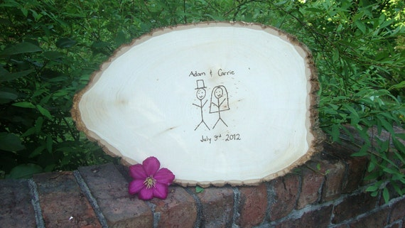 XL Wedding Guest Book Tree Slice