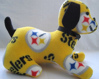 Steelers stuffed sports dog