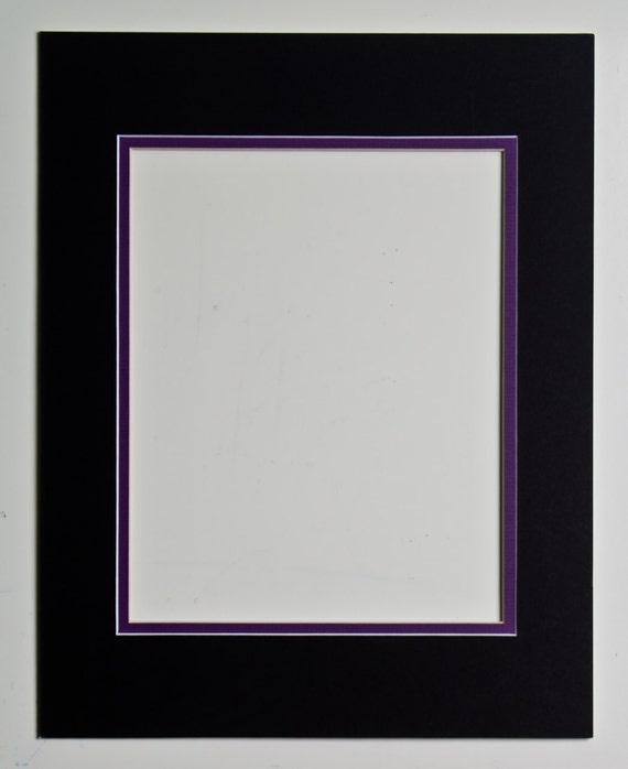 8x10 Double Mat Black And Purple For 11x14 Frame By Ohiohiker