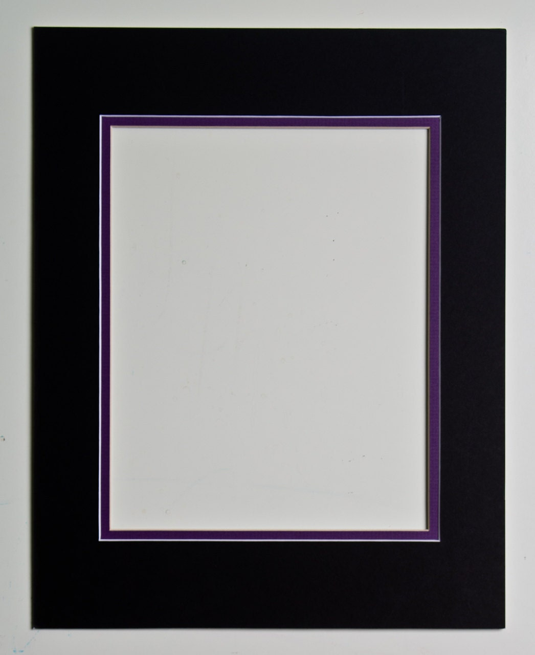 8x10 Double Mat Black And Purple For 11x14 Frame