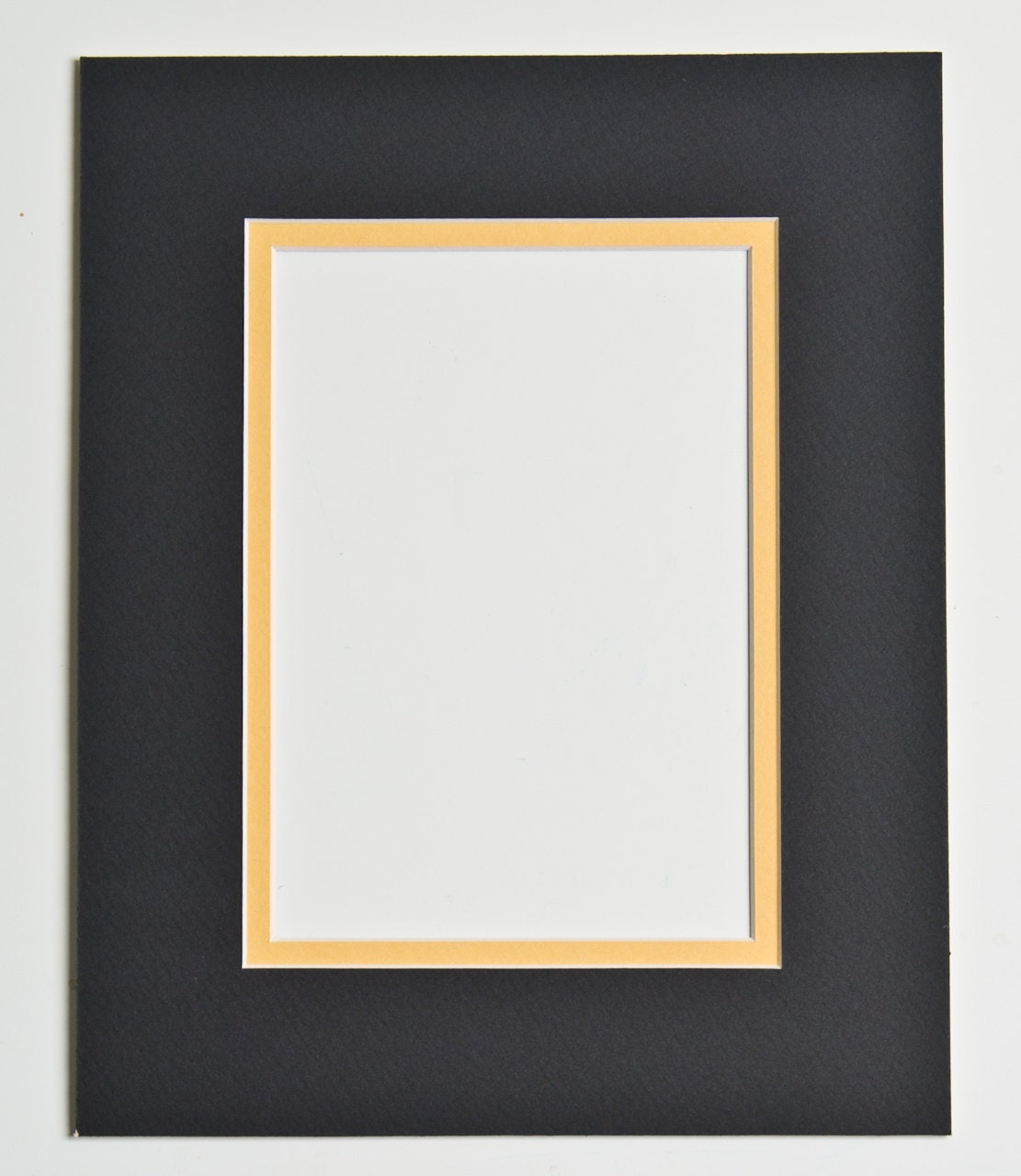 5x7 Double Mat Black And Yellow For 8x10 Frame By Ohiohiker