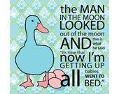 Goodnight Mother Goose Children's Nursery Art Print 9x9