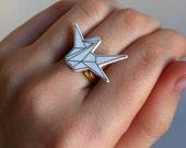 ORIGAMI -  paper crane ring