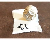Hand carved Rubber Stamp Star - Medium. Completely hand made.