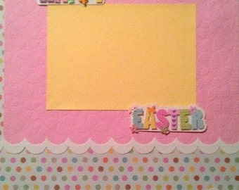 Happy Easter Scrapbook Page