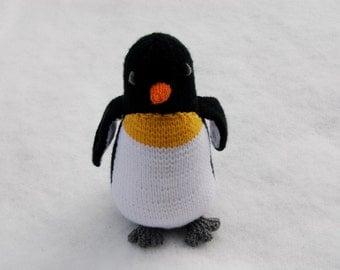 Knit plush penguin, knit stuffed penguin, knit toy penguin, knit plush toy, knit stuffed animal, knit plush animal, toy penguin stuffed -