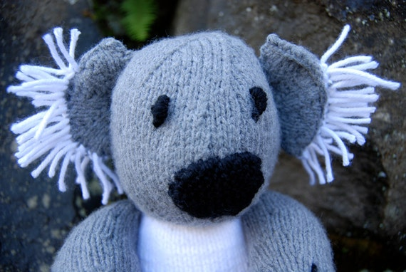 Knit bear, knit stuffed animal, knit koala bear, knit plush bear, knit stuffed bear, stuffed toy bear, plush toy bear, knit plush animal