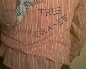 Tres Grand(e) Candy-striped Moustache Shirt