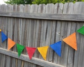 Primary Colors Burlap Bunting Banner (can customize colors): Birthday Banner, Photo Prop, Decor, Outdoor Birthday Bunting, Colorful
