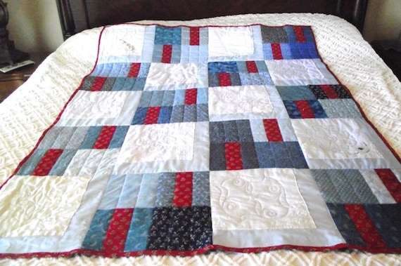 Fifth Custom Vintage Hanky Quilt For O'Retha