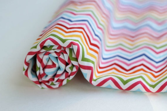 baby blanket.  rainbow zigzag backed with yellow minky.  gender neutral.